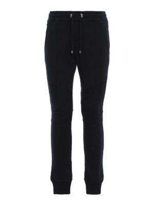 Balmain: tracksuit bottoms - Biker sporty trousers