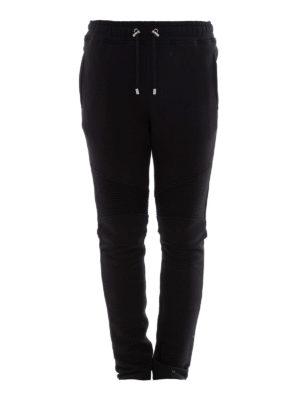 Balmain: tracksuit bottoms - Cotton biker jogging pants