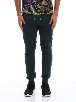 Balmain: tracksuit bottoms online - Biker sporty trousers