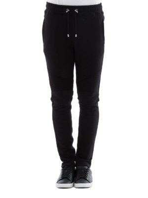 Balmain: tracksuit bottoms online - Cotton biker jogging pants