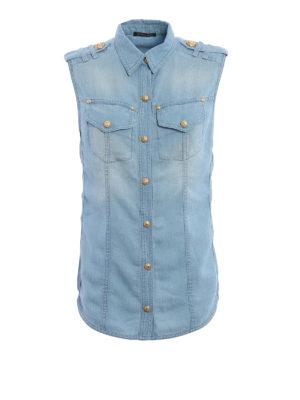 Balmain: waistcoats & gilets - Denim-inspired lyocell waistcoat
