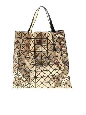 BAO BAO Issey Miyake: totes bags - Lucent Metallic bag in patinum color