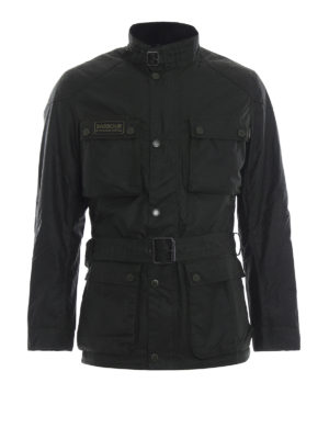 BARBOUR: giacche casual - Caban multi tasca in cotone Blackwell Wax