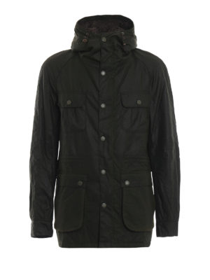 BARBOUR: giacche casual - Giacca in cotone cerato Brindle