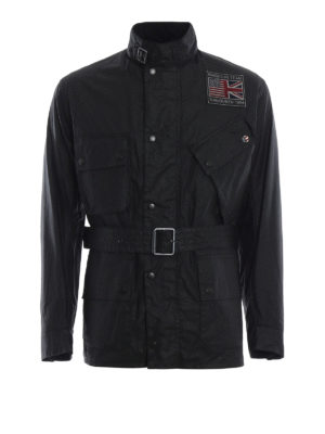 BARBOUR: giacche casual - Giacca Joshua in cotone cerato con cintura