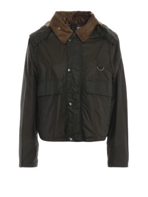 BARBOUR: giacche casual - Giaccone cerato cropped