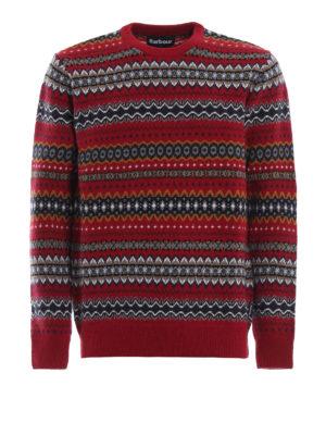 BARBOUR: maglia collo rotondo - Pull Case Fairisle in lana jacquard rossa