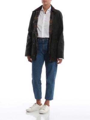 BARBOUR: giacche casual online - Giaccone Beadnell Wax con colletto di velluto