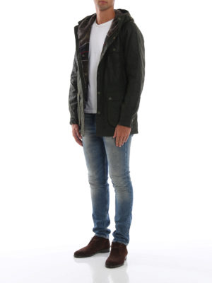 BARBOUR: giacche casual online - Giacca in cotone cerato Brindle