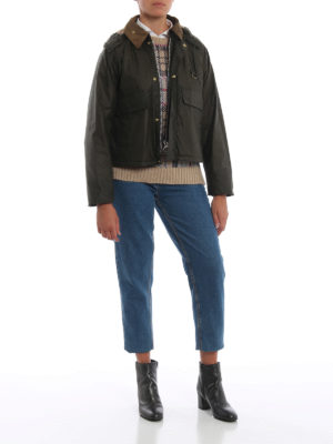 BARBOUR: giacche casual online - Giaccone cerato cropped