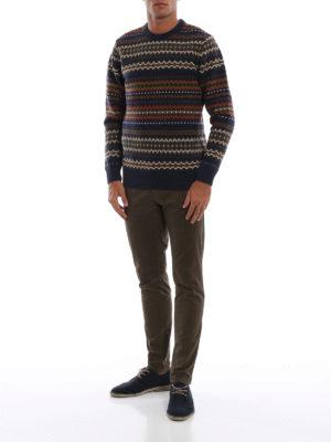 BARBOUR: maglia collo rotondo online - Pull Case Fairisle in lana jacquard blu