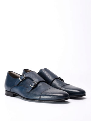 Barrett: classic shoes online - Leather monk-straps