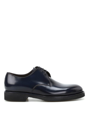 Barrett: lace-ups shoes - Blue brushed leather Derby shoes