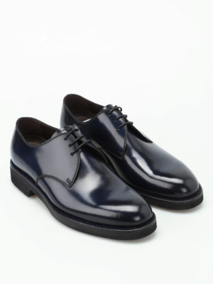 Barrett: lace-ups shoes online - Blue brushed leather Derby shoes