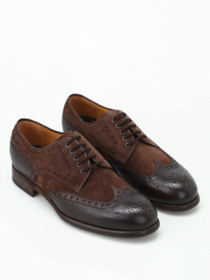 Barrett: lace-ups shoes online - Suede and leather Derby brogues