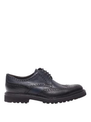 BARRETT: scarpe stringate - Derby brogue in pelle testurizzata