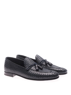 Barrett: Loafers & Slippers online - Corsaro blue woven leather loafers