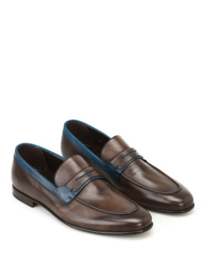 Barrett: Loafers & Slippers online - Two-tone leather loafers