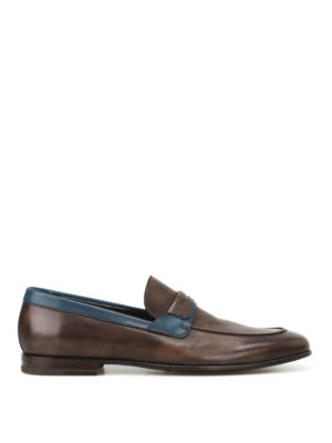 Barrett: Loafers & Slippers - Two-tone leather loafers