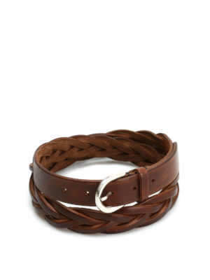 Belsire: belts - Hand-woven leather belt