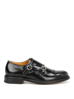 Belsire: classic shoes - Brushed leather monk straps