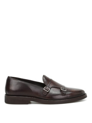 Belsire: classic shoes - Leather monk straps