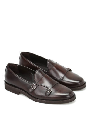 Belsire: classic shoes online - Leather monk straps