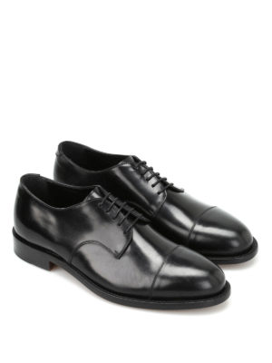 Belsire: classic shoes online - Matte brushed leather Derby