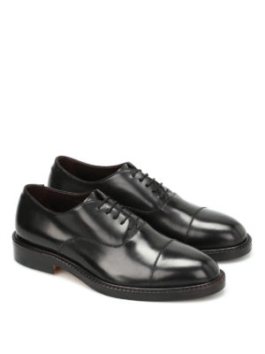 Belsire: classic shoes online - Matte brushed leather Oxford