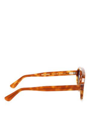 Belsire: sunglasses online - Robert light Havana sunglasses