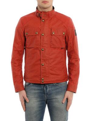 Belstaff: biker jackets online - Racemaster waxed cotton jacket
