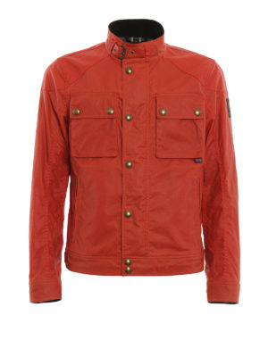 Belstaff: biker jackets - Racemaster waxed cotton jacket