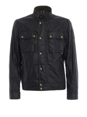 Belstaff: casual jackets - Racemaster waxed cotton jacket