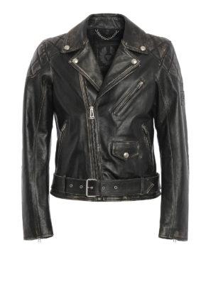 Belstaff: leather jacket - Arlingham leather biker jacket