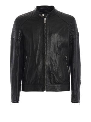BELSTAFF: giacche in pelle - Giubbotto biker in pelle Northcott