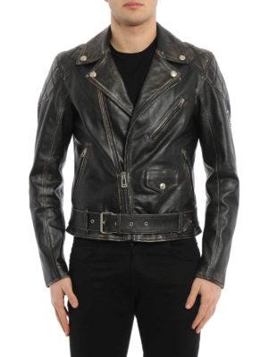 Belstaff: leather jacket online - Arlingham leather biker jacket