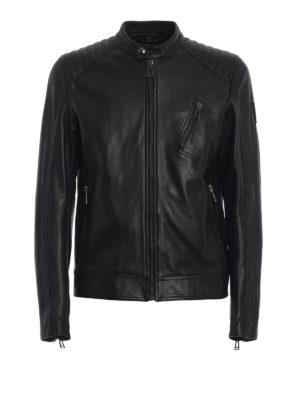 BELSTAFF: giacche in pelle - Giubbotto Racer in morbida pelle