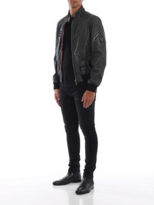BELSTAFF: giacche bomber online - Bomber in cotone spalmato nero Ashburham
