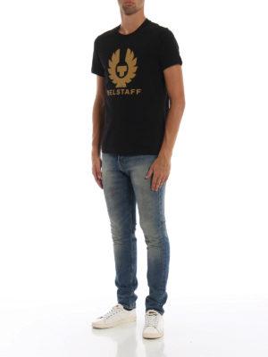 BELSTAFF: t-shirt online - T-shirt in cotone nero Cranstone
