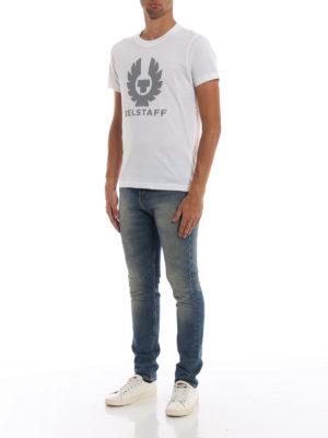 BELSTAFF: t-shirt online - T-shirt in cotone bianco Cranstone