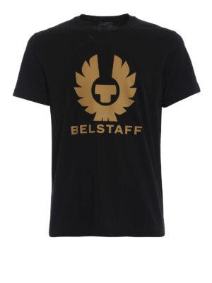 BELSTAFF: t-shirt - T-shirt in cotone nero Cranstone