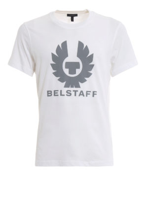 BELSTAFF: t-shirt - T-shirt in cotone bianco Cranstone