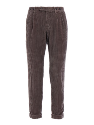 Berwich: casual trousers - Barber velvet cotton trousers