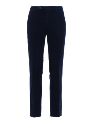 Berwich: casual trousers - Classic navy fustian trousers