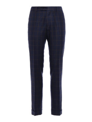 Berwich: casual trousers - Elegant checked wool trousers