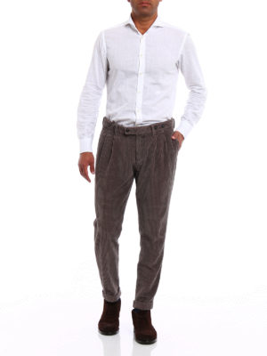 Berwich: casual trousers online - Barber velvet cotton trousers
