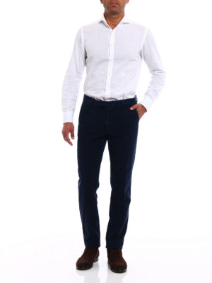 Berwich: casual trousers online - Classic navy fustian trousers
