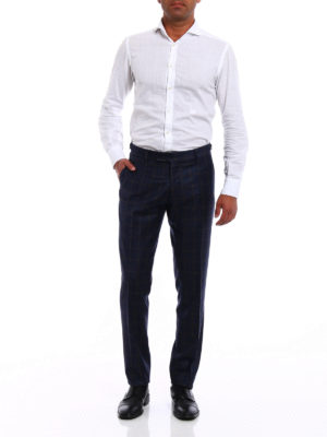 Berwich: casual trousers online - Elegant checked wool trousers