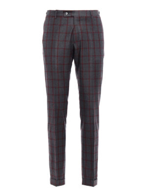 Berwich: Tailored & Formal trousers - Check wool trousers