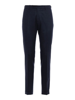 Berwich: Tailored & Formal trousers - Micro patterned wool chino trousers